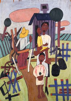 Folk Family by William H. Johnson / American Art