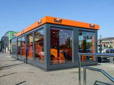 Rent-a-car SIXT in Prague, Czech Republic, as small modular building #modular #komamodular #architecture #sixt #container #prague