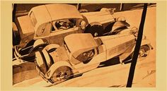 Brennabor Illustration for Car Ad (1927): Graphic by Bernd Reuters