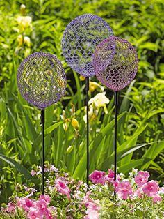 Globe Allium Stakes | Allium Sculpture Garden Art | Gardeners.com...I can easily make these myself