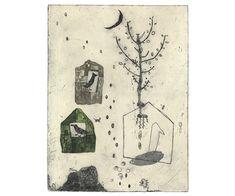Kumi Obata / The Night to Spend with the Moon Light / 月明かりで過ごす夜 / 450×340mm