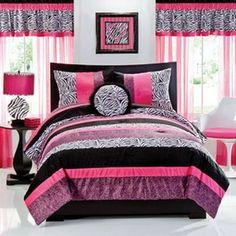 Cute bedspreads on pinterest bedspreads comforter sets for Cute zebra bedroom ideas
