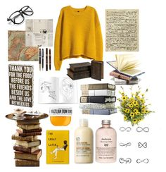 """Lazy Day"" by yuliabaylor on Polyvore featuring Art Classics, WALL, H&M, The Body Shop, Parker, Montblanc, Tom Ford, PBteen, Tattify and Sol de Janeiro"