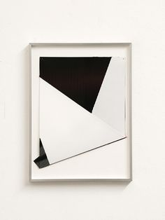 Albert Weis // He does work with papers that are coated or folded, which produces a 3-D effect.
