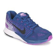 Chaussures de running Nike LUNARGLIDE 7 Bleu prix promo Baskets Femme Spartoo 139.00 €