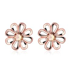 Aliexpress.com : Buy 2016 Brinco Brincos 24K Gold Plated Filled AAA Zircon Floral Daisy earrings Fashion Jewelery Boutique Chrysanthemum stud Earring from Reliable Stud Earrings suppliers on Rose Fashion Jewelry CO., LTD.