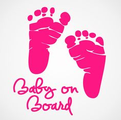 Baby on Board Decal - Baby Footprints - Newborn Decals - Boy or Girl on Etsy, $6.00