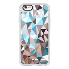 Colored triangle2 - iPhone 6s Case,iPhone 6 Case,iPhone 6s Plus... ($40) ❤ liked on Polyvore featuring accessories, tech accessories, iphone case, iphone cases, apple iphone cases, iphone cover case and iphone hard case