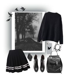 """""""#backinblack"""" by legozorg ❤ liked on Polyvore featuring WithChic, Casetify, Marc Jacobs, Jayson Home and FOSSIL"""