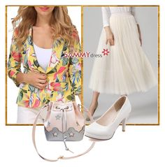 """Floral Blazer"" by dzemila-c ❤ liked on Polyvore featuring sammydress"