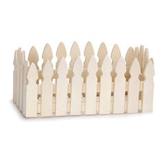 Paint and store brushes and tools. Unfinished Wood Picket Fence Planter Box