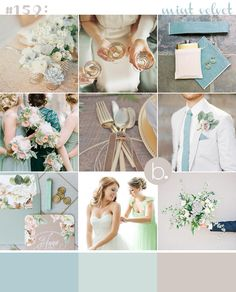 Mint and neutrals: the perfect balance rustic romance and timeless elegance. Gorgeous! #wedding