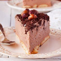 Chocolate cheesecake with nutella (no bake) - recipe in Polish