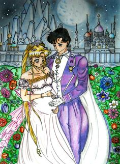 Neo-King Endymion and Neo-Queen Serenity