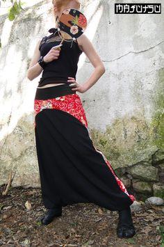 Japanese harem pants sarouel Rojo by Majutsu on Etsy, €62.00