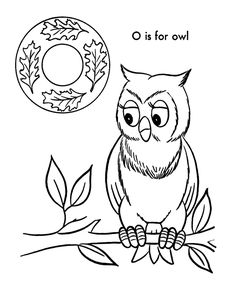 ABC Coloring Activity Sheet   Owl - Animals coloring page
