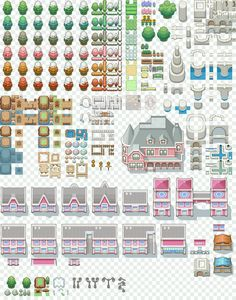 FREE TO USE AND EDIT. Go crazy. Do whatever. Rpg buildings tilesets