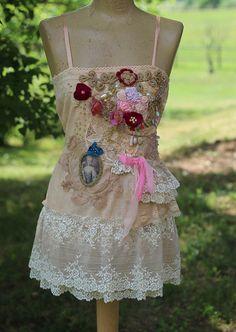 Antoinette de jardín bohemio shabby chic bordado por FleursBoheme