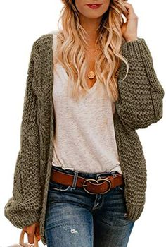 New Astylish Women Open Front Long Sleeve Chunky Knit Cardigan Sweaters Loose Outwear Coat S-XXL online shopping – Favortrendyfashion – Knitted Sweater Bloğ Cardigan Style, Chunky Knit Cardigan, Cardigan Outfits, Loose Sweater, Sweater Cardigan, Chunky Sweater Outfit, Chunky Knits, Slouchy Sweater, Chunky Knit Sweaters
