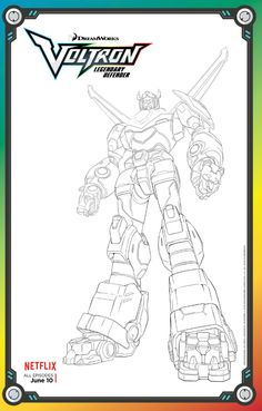 Voltron, Defender of the Universe! Voltron is over 100 metres tall and a formidable opponent. Here's a colouring page for the kids. Whale Coloring Pages, Avengers Coloring Pages, Super Coloring Pages, Paw Patrol Coloring Pages, Coloring Pages For Boys, Cartoon Coloring Pages, Free Printable Coloring Pages, Colouring Pages, Free Printables
