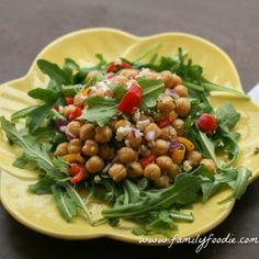 Healthy and delicious Chickpea Salad from Family Foodie!