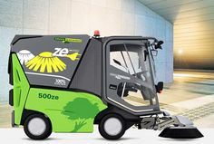 Efficient and sophisticated sweeping machines. City Clean, Safe Storage, Neat And Tidy, Save Energy, Baby Strollers, Green, Baby Prams, Prams, Stroller Storage