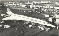 Concorde G-BOAA, the plane that flew from London to Bahrain on January 21, 1976