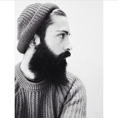 giulio aprin - very black full thick beard and mustache side shot profile beards bearded man men mens' style so handsome #beardsforever