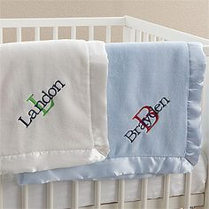 Harper bib burp pottery barn kids embroidery ideas pinterest a personalized baby blanket custom made for your bundle of joy negle Choice Image