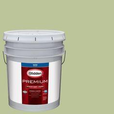 Glidden Premium 5 gal. #HDGG33 Fresh Guacamole Satin Interior Paint with Primer