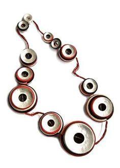 """Guacamayas"" necklace by Columbian artist Linda Sanchez (silver, para grass, fique)"