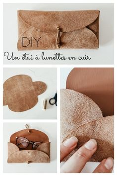 Diy Leather Goods, Leather Diy Crafts, Leather Projects, Leather Jewelry Tutorials, Couture Cuir, Paper Bag Crafts, Diy Jewelry Rings, Leather Art, Couture Sewing