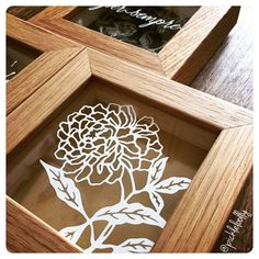 Beautiful new listing to my #etsy shop: Mini flowers framed Papercut Art, Dandelion, Peony, Per Sempre, Forever, flower art