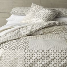 Sereno Hand-Blocked Bed Linens  | Crate and Barrel
