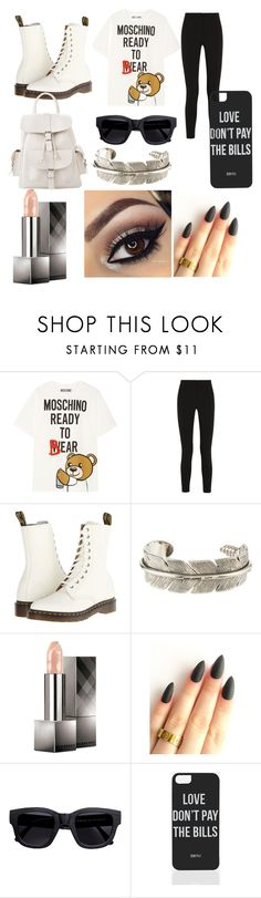 """""""MOCHINO BEAR!!!"""" by xxfashion123 ❤ liked on Polyvore featuring Moschino, Topshop Unique, Dr. Martens, Yves Saint Laurent, Burberry, Acne Studios, Dimepiece and MANGO"""