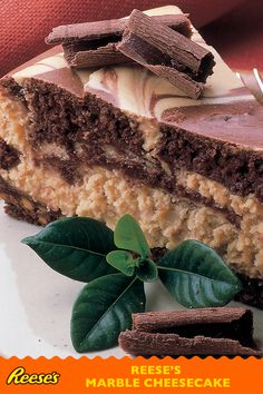 REESE'S Marble Cheesecake: yet another reason to be thankful for REESE'S Peanut Butter Cups this holiday season. This chocolate and peanut butter cheesecake recipe is a delicious addition to your Thanksgiving dessert table.