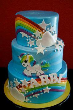.cake my little pony cake birthday party cake girl pink blue rainbow cookie cupcake