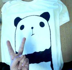 pintura en polera panda