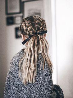hair vines hair styles medium length hair wedding hair dos wedding hair hair curly updo hair styles for long hair down hair with flowers hair long French Braid Hairstyles, Cute Hairstyles, Sponge Hairstyles, Hairstyles Tumblr, Hairstyles With Ribbon, Summer Hairstyles, Teenage Hairstyles, French Braids, Formal Hairstyles