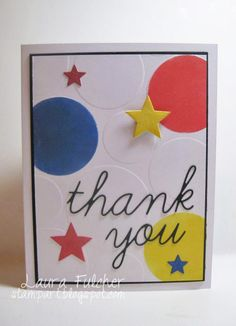 Embossing using stencils and Big Shot Machine Memory Box stencil- Pop Dots 88554 Memory Box dies- Precious Stars 98546, Thank You Script 98574