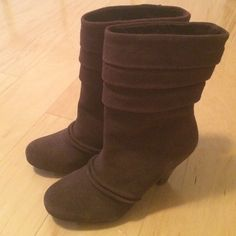 "NWOB Jessica Simpson brown suede boots NWOB Jessica Simpson Cora brown suede boots. 3"" heel, 10"" tall/ total height, 14"" calf circumference. Bought from DSW, no box, never worn. Jessica Simpson Shoes Ankle Boots & Booties"