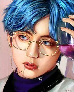 Digital Art Fantasy, Digital Art Anime, Digital Art Girl, Fanart Bts, Taehyung Fanart, Bts Taehyung, Foto Bts, V Chibi, Digital Art Beginner