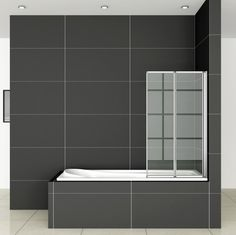 If you're looking for Folding glass bath screen but can't find the right prices for you then check out Aica Bathrooms, we provide Great Glass Bath Screens! Old Bathtub, Bathtub Shower, Glass Shower, Shower Doors, Bathtubs For Small Bathrooms, Bath Screens, Shower Screens, Quadrant Shower Enclosures, Classic Showers