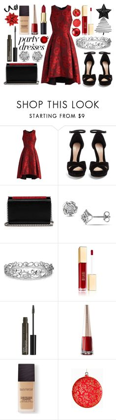 """""""#PolyPresents: Party Dresses"""" by katy-ward ❤ liked on Polyvore featuring Chicwish, Alexander McQueen, Christian Louboutin, Effy Jewelry, NYX, Laura Mercier, contestentry and polyPresents"""
