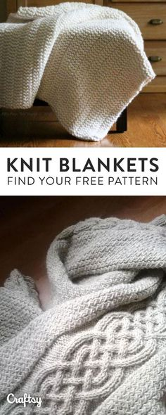 Our favorite knit blanket, throw and afghan patterns to keep you cozy this Fall. Did we mention they're 100% FREE?!
