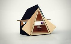 Tetra Shed is a unique modular workspace that can be used in backyard as home office