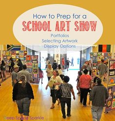 Many of you might be in the process of planning your end-of-the-year art show. Monday is Spring Break, but for me, I'll be back at school sorting and organizing my student's art work for the upcoming art show. I've written before about how I plan out my show…certainly nothing fancy, but boy does the show …