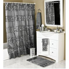 Check Out The Deal On Sinatra Silver Bling Shower Curtain And Bath  Accessories At BedBathHome.Com