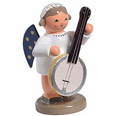 Angel with banjo (5m/1in)ch by KWO