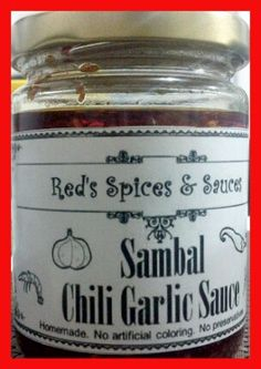 Our neighbor's chili sauce. Food won't be the same without it. Red Spice, Chili, Spices, Homemade, Food, Spice, Chile, Home Made, Essen
